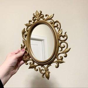 Vintage gold plastic mirror